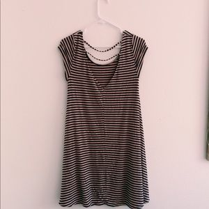 American Eagle Outfitters Dresses - american eagle light pink and brown dress